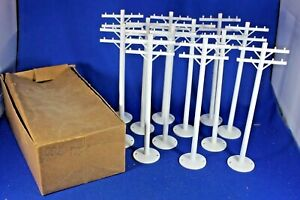 O/S - Plasticville - #TP-5 - Hard-to-Find WHITE Telephone Pole BOX