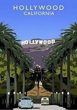 "HOLLYWOOD CALIFORNIA Photo Flexible Fridge Magnet 2""x 3"""