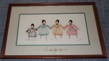 """1996 P. Buckley Moss Print """"ALL DRESSED UP"""" Signed & Numbered (Glass signed)"""