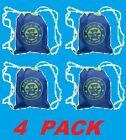 4 BUILD-A-BEAR WORKSHOP Drawstring Bags Logo Print Fuchsia Reuse Blue Bag NEW