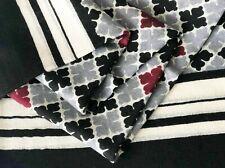 MALENE BIRGER Pure Wool 100cm Square Scarf Loreen Shawl Black Grey Cashmere