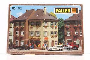Faller HO 130 412 Semi-detached Houses w/Grocers & Driving School