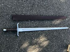 KING ARTHUR EXCALIBUR SWORD FULL TANG STEEL ETCHED BLADE REPLICA SCABBARD