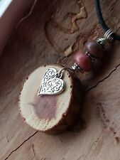 Slice Essential Oil Diffuser Pink Mother's Day Rhodonite Gemstone Necklace Wood