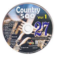 KARAOKE CHARTBUSTER CD+G COUNTRY 500 CB8532 VOL.1 DISC # 27