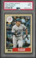 2017 Topps Update Aaron Judge New York Yankees RC #35 PSA 9 MINT Rookie Card