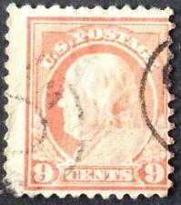 1917 9c Franklin regular issue, Scott #509, Used, VG, thin, crease