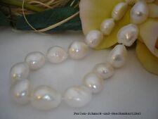 Collier Barock 13mm Weiß aus Echten Perlen 50cm Magnetverschluss, Handarbeit TOP