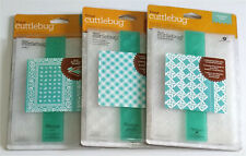 Cuttlebug Embossing Folder Bundle x 3 Folders and 3 x Borders - Mixed Designs.