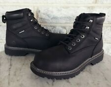 "Wolverine Mens Floorhand 6"" Waterproof Steel Toe Work Boots Sz 9 Ew Black W10694"
