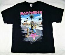 IRON MAIDEN Somewhere Back in Time World Tour'08-'09 LA Forum RARE T-Shirt XL