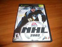 NHL 2002 (Microsoft Xbox, 2001)  Complete Original Hockey