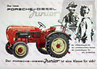 Porsche Diesel Junior Tractor Advertising Poster (A3)