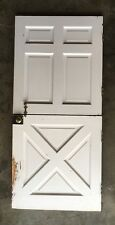 Vtg Solid Wood Dutch Door 79x36 Shabby Cottage Exterior Entry Old Chic 588-18E