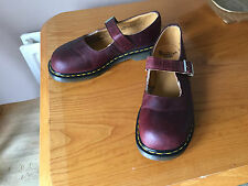 VINTAGE Dr Martens Maroon Rosso MARY JANE TG UK 8 EU 42 kawaii cute England