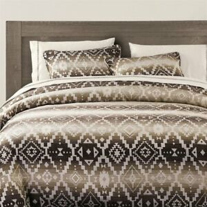 Chalet Aztec Earth Tone Quilted Country Farmhouse Queen 3-Piece Bed Set