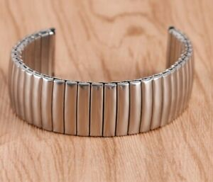 Slight 2nds Silver Expanding Stainless Steel Watch Strap Expandable 12 - 20mm W8