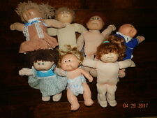 Vintage Cabbage Patch Doll Lot of 7 Hard, silk, bald, yarn Hair