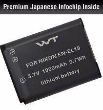 WT-ENEL19 WT Battery for Nikon EN-EL19 Coolpix S100,S2500,S2600,S2700,S2750,