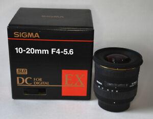 Sigma EX 10-20mm f/4.0-5.6 HSM DC Lens
