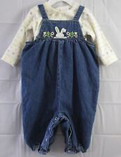 Girls Todler/Baby Carter's 2 Piece  Overalls Set Size 6-9 Months