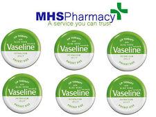 6x Vaseline Lip Therapy Aloe Vera Green Balm Tin 20g