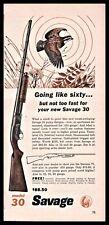 1961 Savage Model 30 Shotgun Vintage Hunting Ad