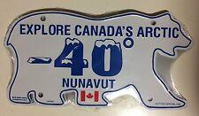 Northwest Territories License Plate Arctic Canada -40 Nunavut