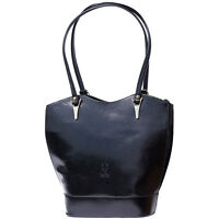 Borsa a Spalla Cuoio Pelle Leather Shoulder Bag Italian Made In Italy 208 bk