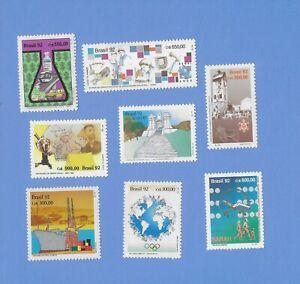 BRASILIEN  1992  - postfrisch**MNH - kleines Lot Einzelmarken (8 Werte)