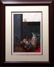 "Sunol Alvar ""Still Life"" Embossing custom framed Hand Signed Make an Offer"