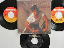 LOT OF 4 ' PAUL YOUNG ' / ' JOHN PAUL YOUNG ' HIT 45's+PS(Poster) THE 70's&80's!