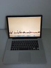 "Apple MacBook Pro 15"" 2.3 GHz intel core i7 Laptop 16GB Mid 2012 500GB Faulty"