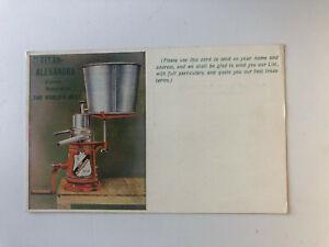 Cartolina Pubblicitaria Titan Alexandra Separatore Creme Londra c13