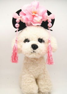 Pet Chinese Style Princess Hat Retro Vintage Dog Cat Cap Cosplay Accessories