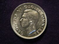 1943 Silver Great Britain 1 Shilling King George VI  Better Grade English Crest