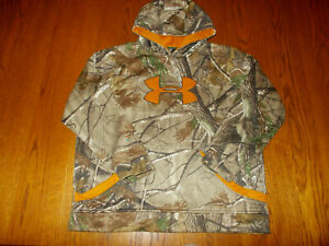 UNDER ARMOUR REALTREE CAMOUFLAGE HOODED SWEATSHIRT BOYS XL EXCELLENT CONDITION