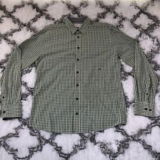 MOODS of NORWAY Green Plaid XLarge Button Shirt