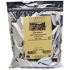 STARWEST BOTANICALS ORGANIC GARLIC GRANULES ALLIUM SATIVA POWDER KOSHER 1 lb