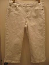 CHAPS White Jeans Capri Pants Size 10