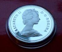 PL Dollar Gem Coin Canada 1981 Voyageur Dollar Elizabeth II, with Holder.