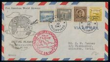 Mayfairstamps Philippines 1947 First Flight to India MVSCO Cover wwf47821