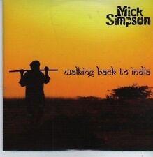 (CB153) Mick Simpson, Walking Back To India - 2010 DJ CD