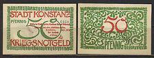 German NOTGELD KONSTANZ 50 Pfg JULI 1919 UNC