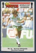 MATCH MAGAZINE-WORLD CUP WONDERS 1986- #22-MAN UTD & N IRELAND-NORMAN WHITESIDE