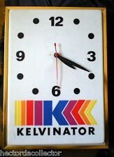 Vintage Kelvinator Clock Advertising Refrigerator Appliance Sheet Metal W Union