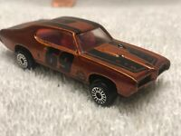Vintage🚗 P391 1969 Pontiac GTO Dark Orange 1969 Judge Hood Zee Scale Die Cast