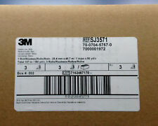 3M Fastener SJ3571 Loop S001 White, Acrylic Adhesive, 1 in x 50 yd, 3 Rolls