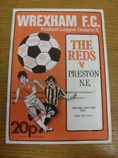 14/04/1979 Wrexham V Preston North End (equipo cambios). si el artículo ha cualquier Fau