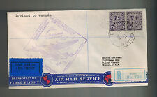1939 Baile Ireland First Flight Cover to Canada FFC Imperial Airways 3